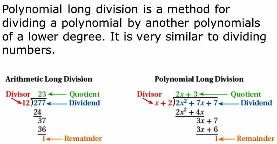 division algorithm for polynomials a plus topper