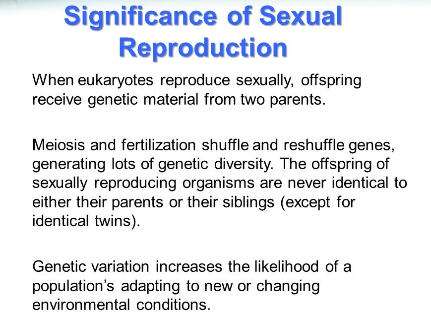 Significance of sexual reproduction