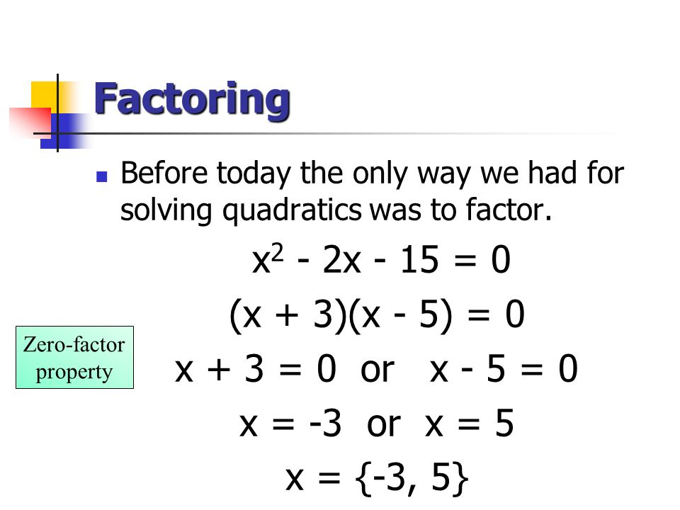 Quadratic Function Examples Solving A Quadratic Eq...