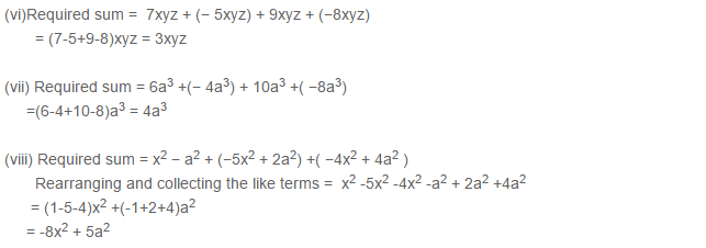 Algebraic Expressions RS Aggarwal Class 6 Maths Solutions Exercise 8C 1.2