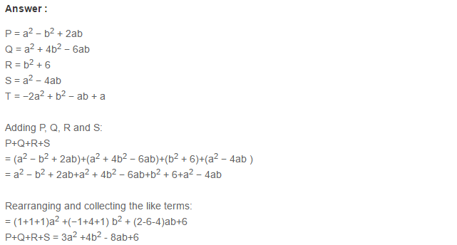 Algebraic Expressions RS Aggarwal Class 6 Maths Solutions Exercise 8C 10.1