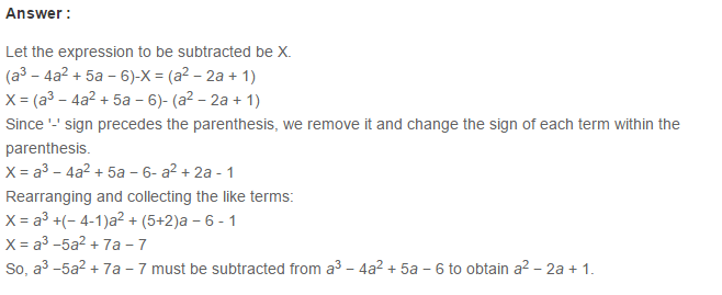 Algebraic Expressions RS Aggarwal Class 6 Maths Solutions Exercise 8C 11.1