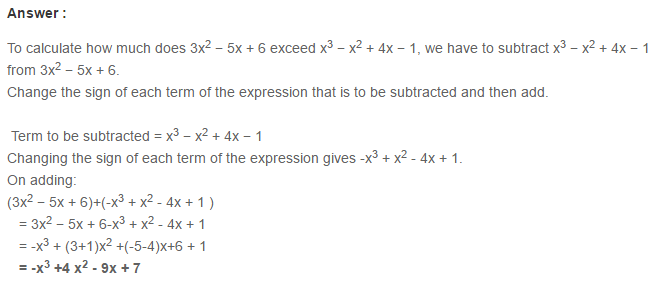Algebraic Expressions RS Aggarwal Class 6 Maths Solutions Exercise 8C 14.1