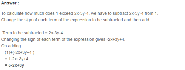 Algebraic Expressions RS Aggarwal Class 6 Maths Solutions Exercise 8C 17.1