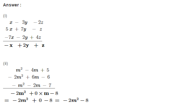 Algebraic Expressions RS Aggarwal Class 6 Maths Solutions Exercise 8C 2.1