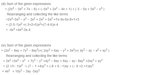 Algebraic Expressions RS Aggarwal Class 6 Maths Solutions Exercise 8C 3.2