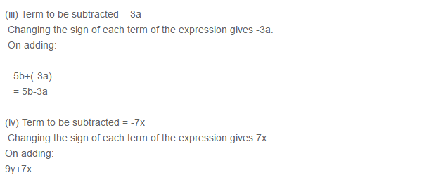 Algebraic Expressions RS Aggarwal Class 6 Maths Solutions Exercise 8C 4.2
