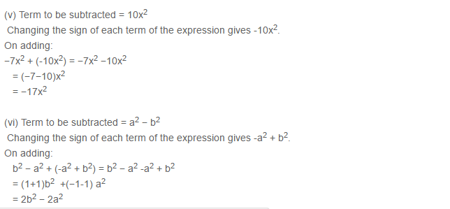 Algebraic Expressions RS Aggarwal Class 6 Maths Solutions Exercise 8C 4.3