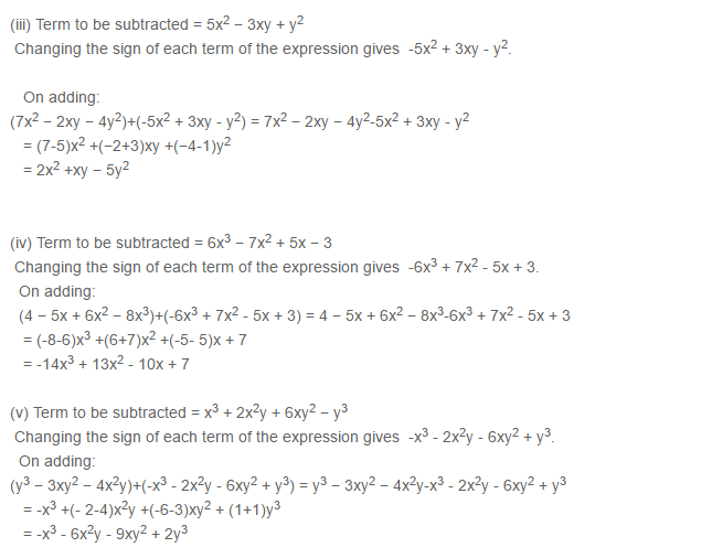 Algebraic Expressions RS Aggarwal Class 6 Maths Solutions Exercise 8C 5.2