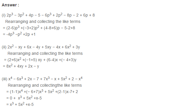 Algebraic Expressions RS Aggarwal Class 6 Maths Solutions Exercise 8C 6.1