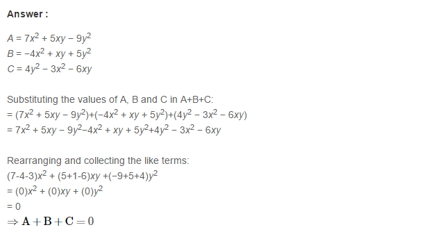 Algebraic Expressions RS Aggarwal Class 6 Maths Solutions Exercise 8C 8.1