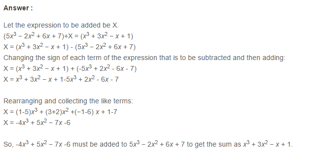 Algebraic Expressions RS Aggarwal Class 6 Maths Solutions Exercise 8C 9.1