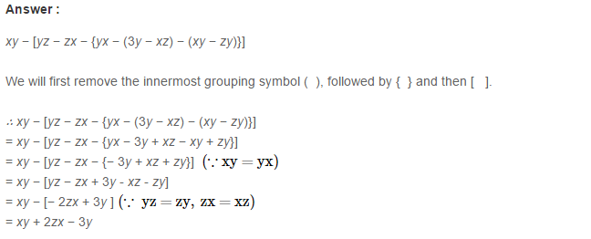 Algebraic Expressions RS Aggarwal Class 6 Maths Solutions Exercise 8D 13.1