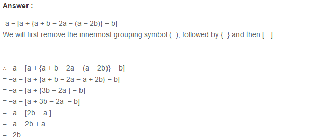 Algebraic Expressions RS Aggarwal Class 6 Maths Solutions Exercise 8D 15.1