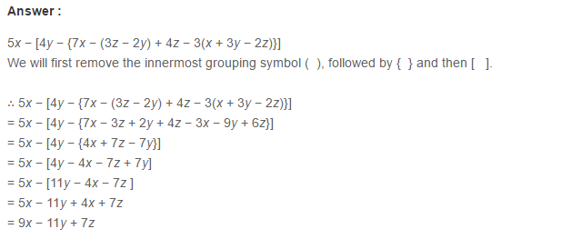 Algebraic Expressions RS Aggarwal Class 6 Maths Solutions Exercise 8D 17.1