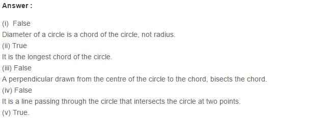 Circles RS Aggarwal Class 6 Maths Solutions 4.1