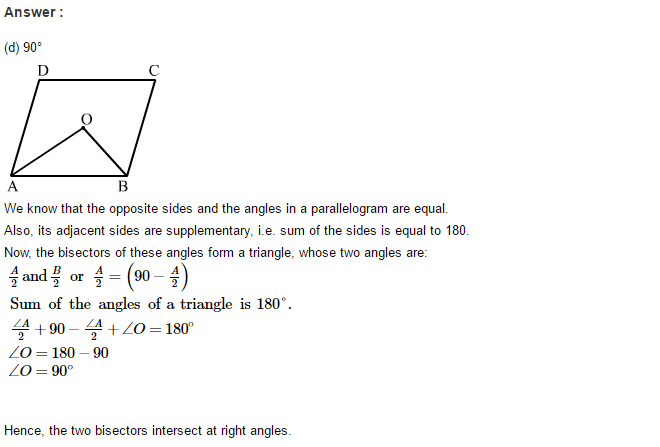 Construction of Quadrilaterals RS Aggarwal Class 8 Maths Solutions CCE Test Paper 11.1