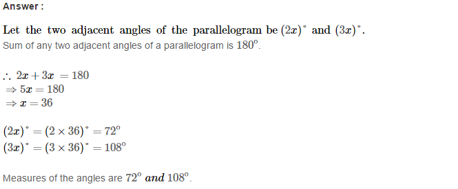 Construction of Quadrilaterals RS Aggarwal Class 8 Maths Solutions CCE Test Paper 3.1