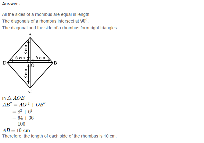 Construction of Quadrilaterals RS Aggarwal Class 8 Maths Solutions CCE Test Paper 6.1