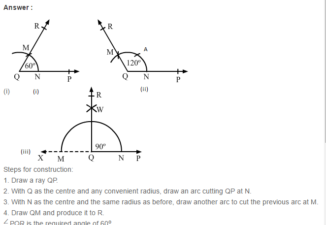 Constructions RS Aggarwal Class 6 Maths Solutions Exercise 14B 1.1