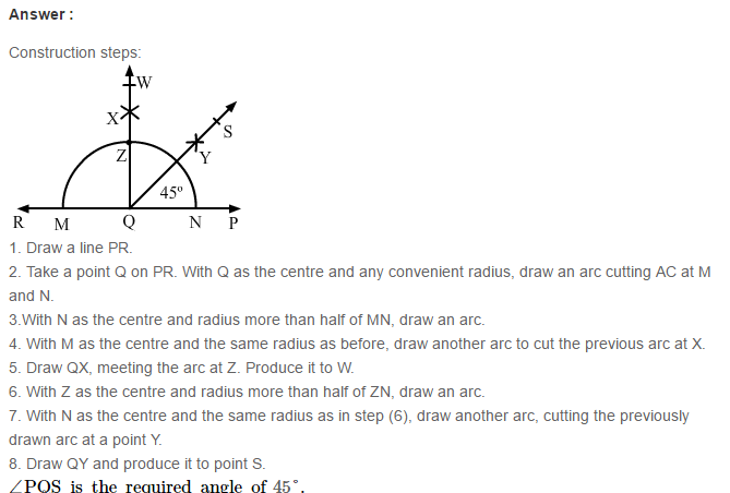 Constructions RS Aggarwal Class 6 Maths Solutions Exercise 14B 3.1