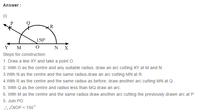 Constructions RS Aggarwal Class 6 Maths Solutions Exercise 14B 4.1