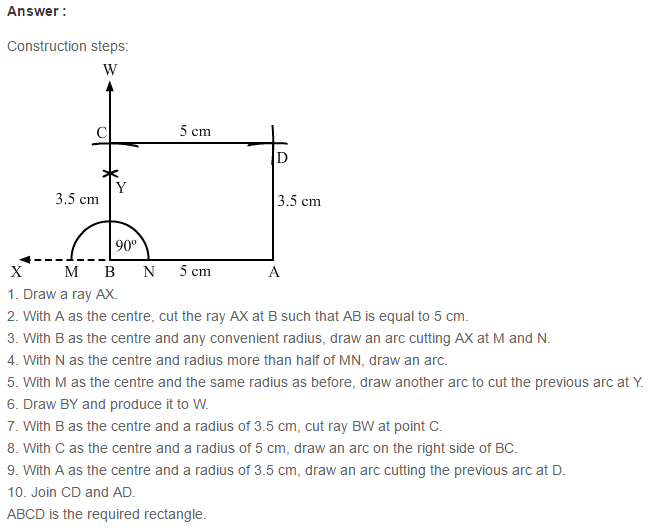 Constructions RS Aggarwal Class 6 Maths Solutions Exercise 14B 5.1