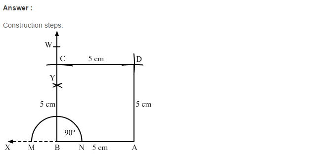 Constructions RS Aggarwal Class 6 Maths Solutions Exercise 14B 6.1