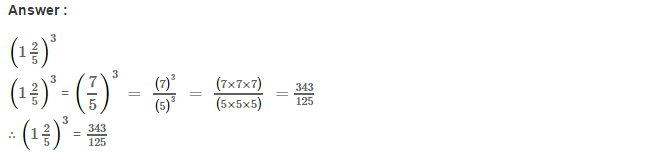 Cubes and Cube Roots RS Aggarwal Class 8 Maths Solutions CCE Test Paper 1.1