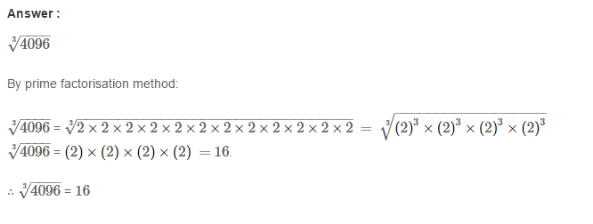 Cubes and Cube Roots RS Aggarwal Class 8 Maths Solutions CCE Test Paper 2.1