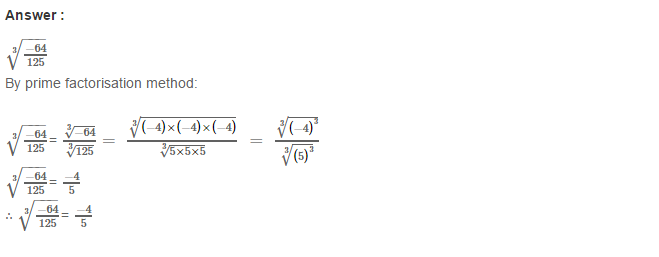 Cubes and Cube Roots RS Aggarwal Class 8 Maths Solutions CCE Test Paper 4.1