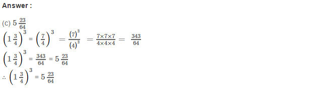 Cubes and Cube Roots RS Aggarwal Class 8 Maths Solutions CCE Test Paper 5.1