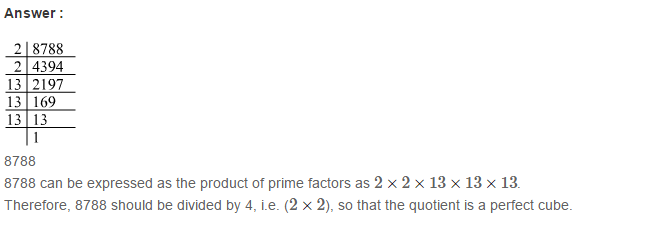 Cubes and Cube Roots RS Aggarwal Class 8 Maths Solutions Ex 4A 10.1