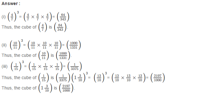 Cubes and Cube Roots RS Aggarwal Class 8 Maths Solutions Ex 4A 3.1