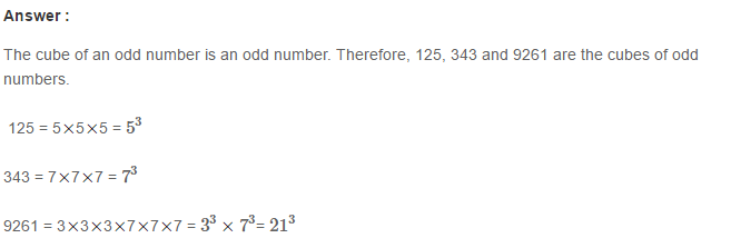Cubes and Cube Roots RS Aggarwal Class 8 Maths Solutions Ex 4A 6.1