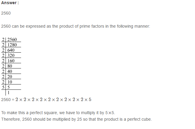 Cubes and Cube Roots RS Aggarwal Class 8 Maths Solutions Ex 4A 8.1