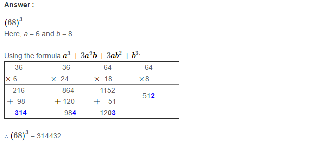 Cubes and Cube Roots RS Aggarwal Class 8 Maths Solutions Ex 4B 3.1
