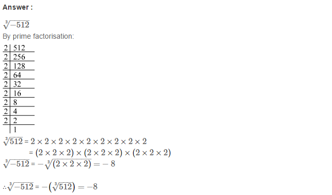 Cubes and Cube Roots RS Aggarwal Class 8 Maths Solutions Ex 4C 10.1