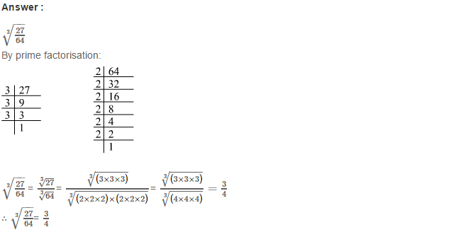 Cubes and Cube Roots RS Aggarwal Class 8 Maths Solutions Ex 4C 12.1