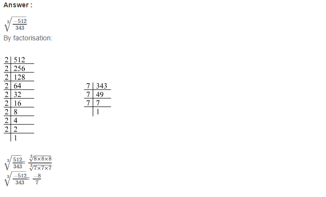 Cubes and Cube Roots RS Aggarwal Class 8 Maths Solutions Ex 4C 18.1