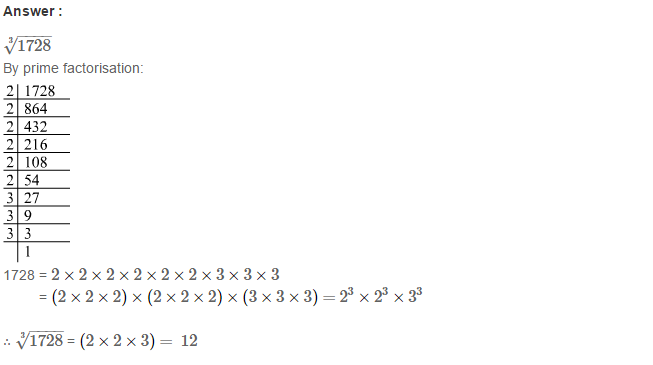 Cubes and Cube Roots RS Aggarwal Class 8 Maths Solutions Ex 4C 4.1