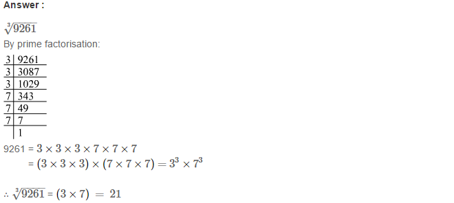 Cubes and Cube Roots RS Aggarwal Class 8 Maths Solutions Ex 4C 5.1