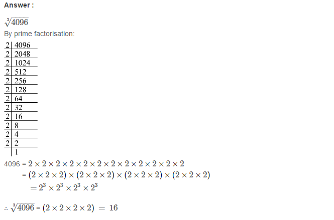 Cubes and Cube Roots RS Aggarwal Class 8 Maths Solutions Ex 4C 6.1