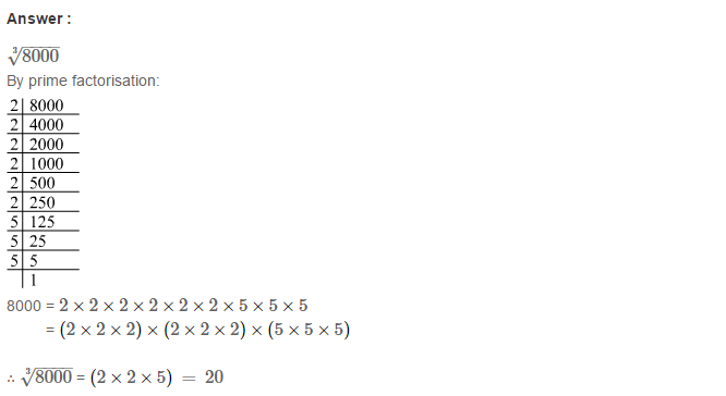 Cubes and Cube Roots RS Aggarwal Class 8 Maths Solutions Ex 4C 7.1