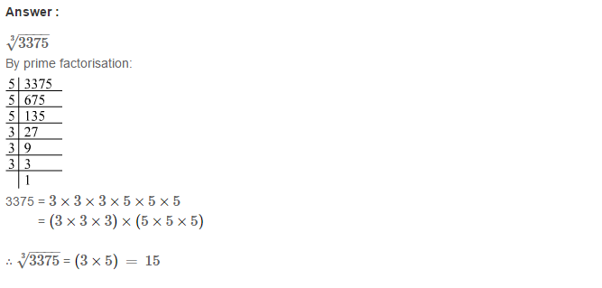 Cubes and Cube Roots RS Aggarwal Class 8 Maths Solutions Ex 4C 8.1
