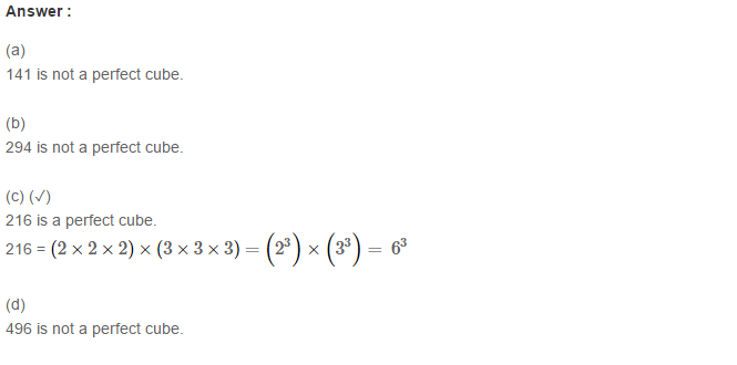 Cubes and Cube Roots RS Aggarwal Class 8 Maths Solutions Ex 4D 1.1