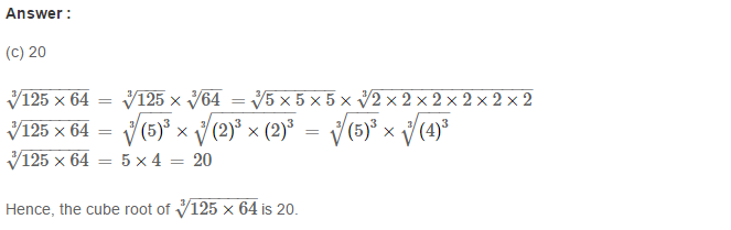 Cubes and Cube Roots RS Aggarwal Class 8 Maths Solutions Ex 4D 4.1