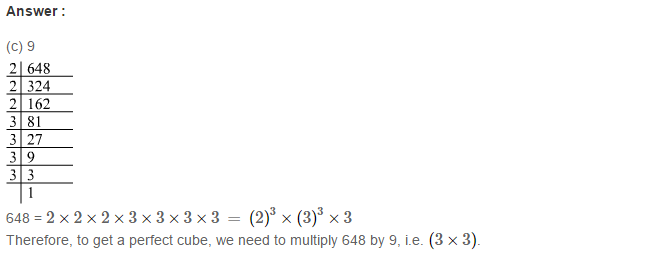 Cubes and Cube Roots RS Aggarwal Class 8 Maths Solutions Ex 4D 7.1