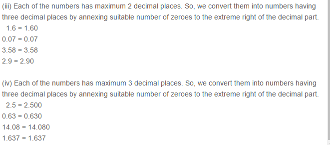 Decimals RS Aggarwal Class 6 Maths Solutions Exercise 7A 5.2
