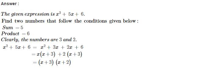 Factorisation RS Aggarwal Class 8 Maths Solutions Ex 7D 1.1